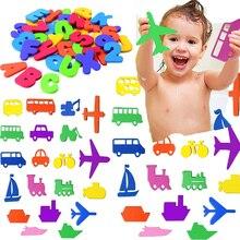 תינוק פאזל אמבטיה צעצוע EVA אלפאנומריים דבק מכתב גן קוגניטיבית מילה פאזל אמבטיה מספר forKid מוקדם חינוך צעצוע