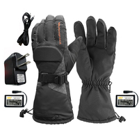 Motorcycle Heated Gloves 3.7V/3600mAh Lithium Battery Waterproof Warm Keeping Thermal Heat Gloves For Winter Skiing Riding Sport