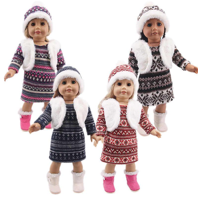 LUCKDOLL جديد الشتاء سترة فستان صالح 18 بوصة الأمريكية 43 سنتيمتر ملابس دمى الطفل اكسسوارات ، الفتيات اللعب ، جيل ، هدية عيد ميلاد
