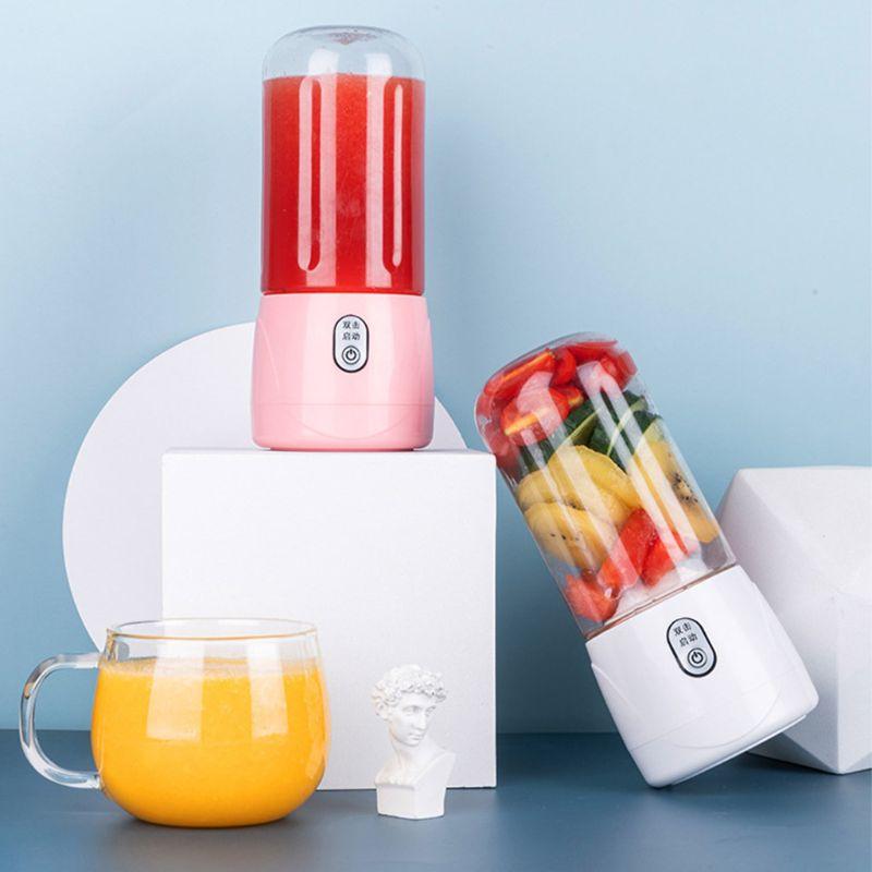 Protable Mini Juicer Cup Personal Travel Blender USB Rechargeable 300ml Fruit Mixing Machine Juice Making Appliances