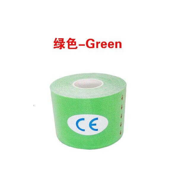 Кинезиологическая лента Атлетическая эластопласт спортивная водонепроницаемая лента медицинская терапия самоклеющаяся повязка на колено Защитная муфта для мышц L2147SPA - Цвет: Красный
