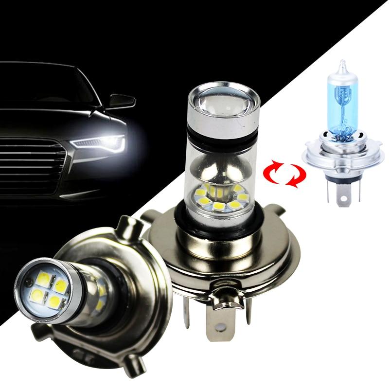 1PCS LED Cars Fog Ligth 1000LM H 4 H 7 12V 6500k White Auto Light Bulb Replace Halogen Lamp 360 Angle Beam
