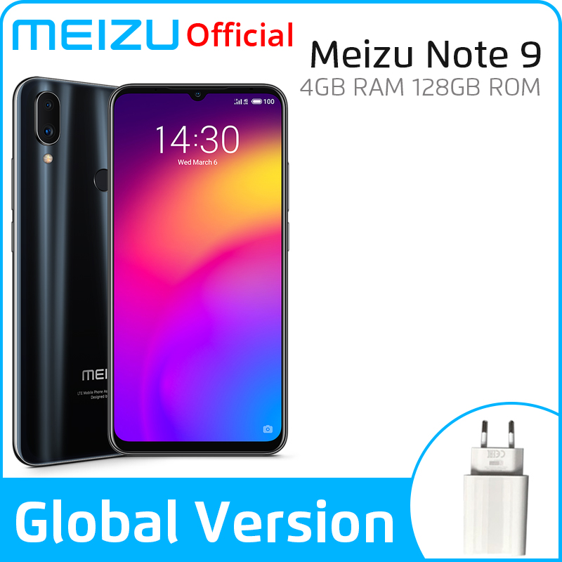 In Stock Global Version Meizu Note 9 4GB 128GB Smartphone Snapdragon 675 Octa Core Note9 6.2'' 48MP Dual Camera AI Front 20MP