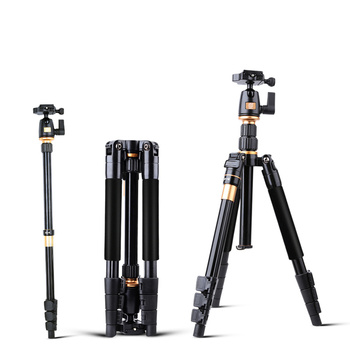 Camera Tripod QZSD Q555 Aluminium Alloy Camera Video Monopod Professional Extendable Tripod With Quick Release Plate Stand