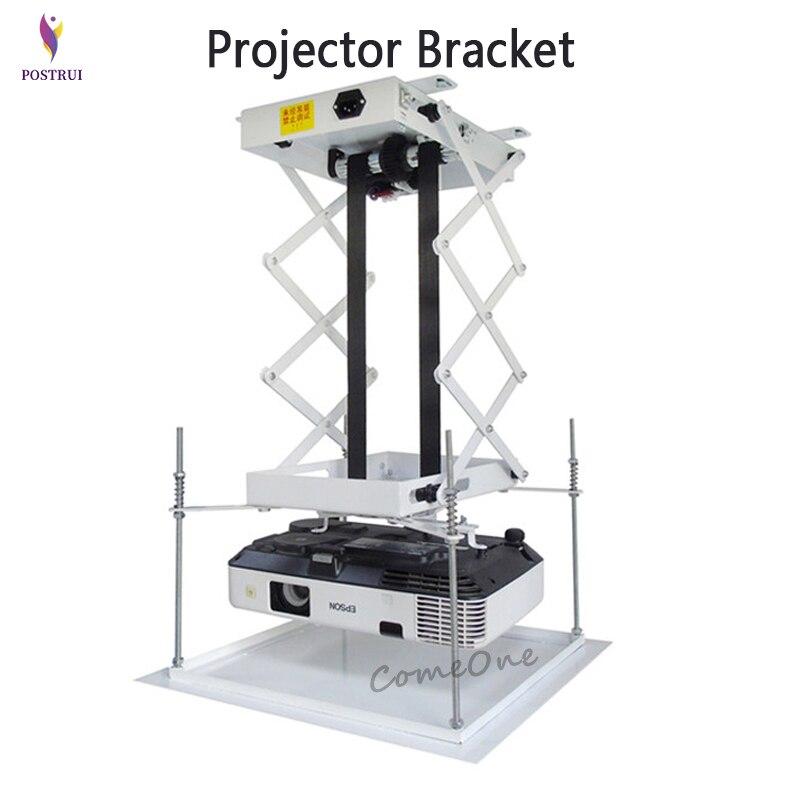 70 см кронштейн для проектора, моторизованный Электрический подъемник, ножницы, проектор, потолочное крепление, проектор, лифт с пультом дистанционного управления|Кронштейны|   | АлиЭкспресс