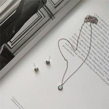 Pofunuo Настоящее серебро 925 пробы женское изысканное ожерелье