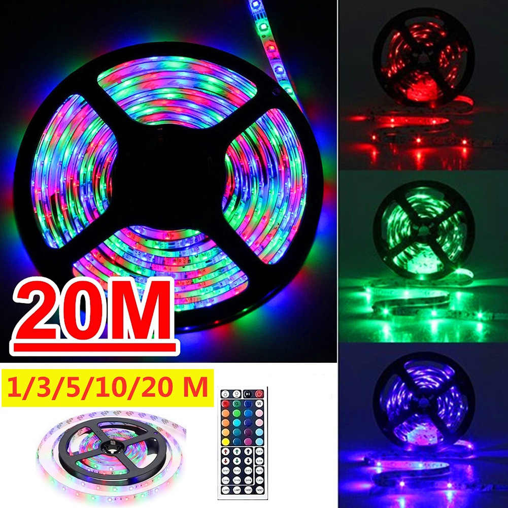 5//10//20M Strip Light RGB 5050 LED 12V Waterproof Lights Party Outdoor Decor US