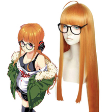 Game Persona 5 Cosplay Wigs Futaba Sakura Wig Heat Resistant Synthetic Hair Halloween Party Anime Women