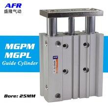 air Cylinder MGPM25-50Z MGPM25-75Z Thin cylinder with rod Three axis three bar  Pneumatic components MGPL25-50Z MGPL25-75Z AFR
