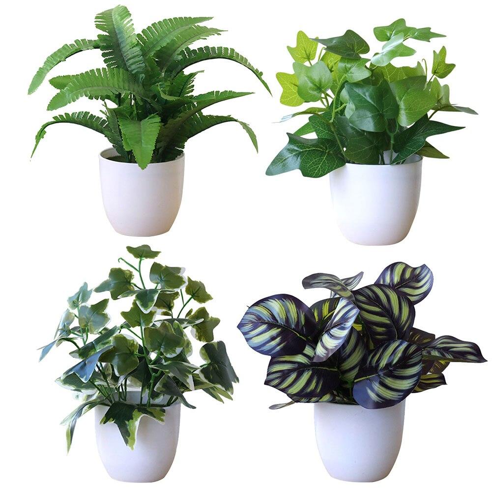 Details about  /BE/_ Simplism Artificial Foliage Plant Potted Bonsai Party Mall Market Desktop De