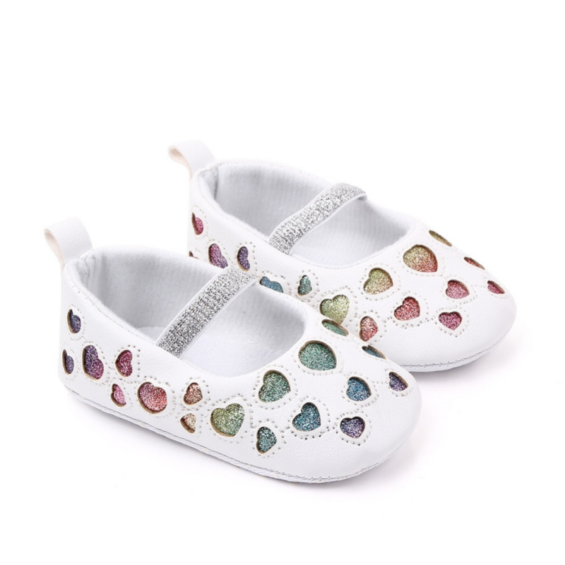 Baby Girls Shoes Autumn Warm Star Heart Design Anti-Slip Toddler Soft Soled Casual Walking Shoes For Newborns