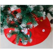 1pc Christmas Tree Skirts Fur Carpet Merry Christmas Decoration for Home Natal Natal Tree Skirts New Year Decoration Navidad цена 2017
