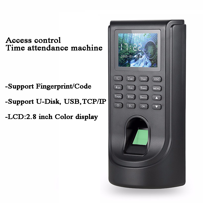 Acess Control Time Attendance Fingerprint Code DC12V USB U-disk TCP/IP 5268 Tamper Alarm Office Employee Door/Gate Opener