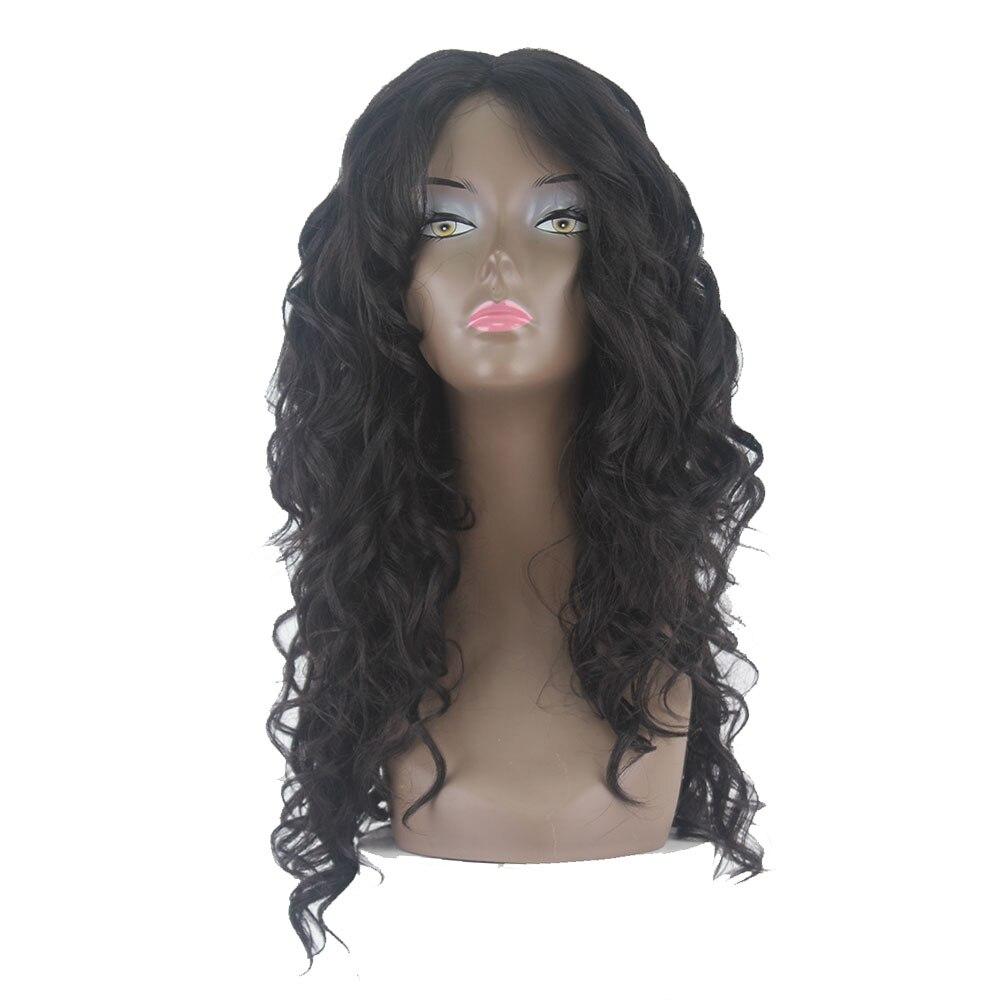 SOKU синтетические волосы парики для черных женщин Омбре блонд кудрявые вьющиеся волосы парики средняя часть Glueless термостойкие длинные парики Синтетические парики на сетке      АлиЭкспресс
