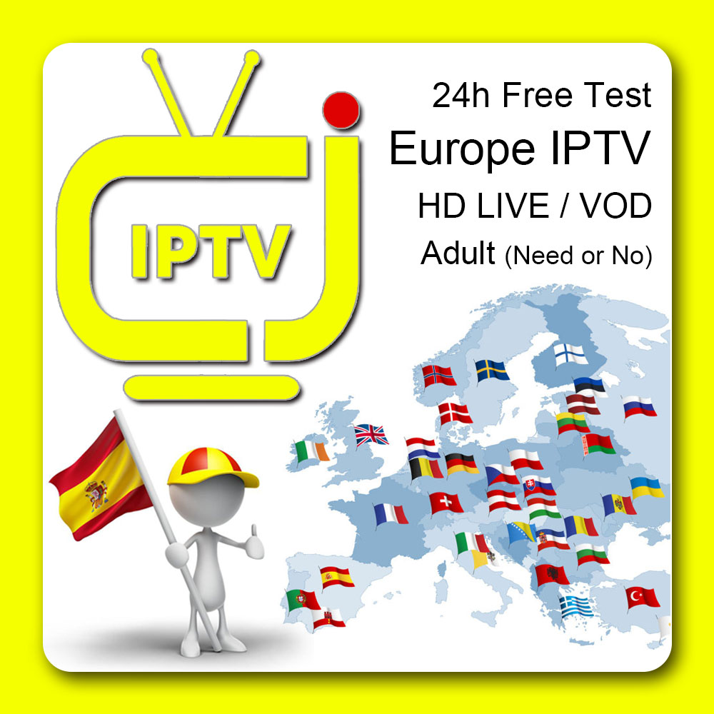 1 Year Europe IPTV M3u Subscription For Spanish Portugal Dutch Sweden Israel Smart TV Android Phone TV Box 24h Free Test