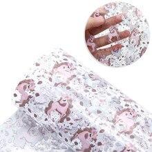 20*34cm natal transparente uv impressão de couro sintético folhas tecido de couro falso para arcos diy materiais artesanais, 1yc11571