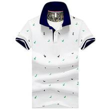 Letnia koszulka polo z krótkim rękawem koszule męskie koszule z nadrukiem Slim w stylu fit streetwear oddychająca Casual Business męskie koszule golfowe odzież męska tanie tanio Szczupła Na co dzień Drukuj Poliester Oddychające Stałe Chemical fiber blend Polyester fibers