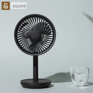 Image 1 - Youpin SOLOVE 5W USB Desktop Table Fan 4000mAh USB Rechargeable 3 Modes Wind Speed Cooling Oscillating Fan For Office Student