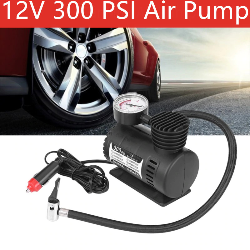 12V 300 PSI Tire Inflator Pump Mini Air Compressor Electric Pump ABS Automotive Durable Vehicle Air Pump Car Parts Hot