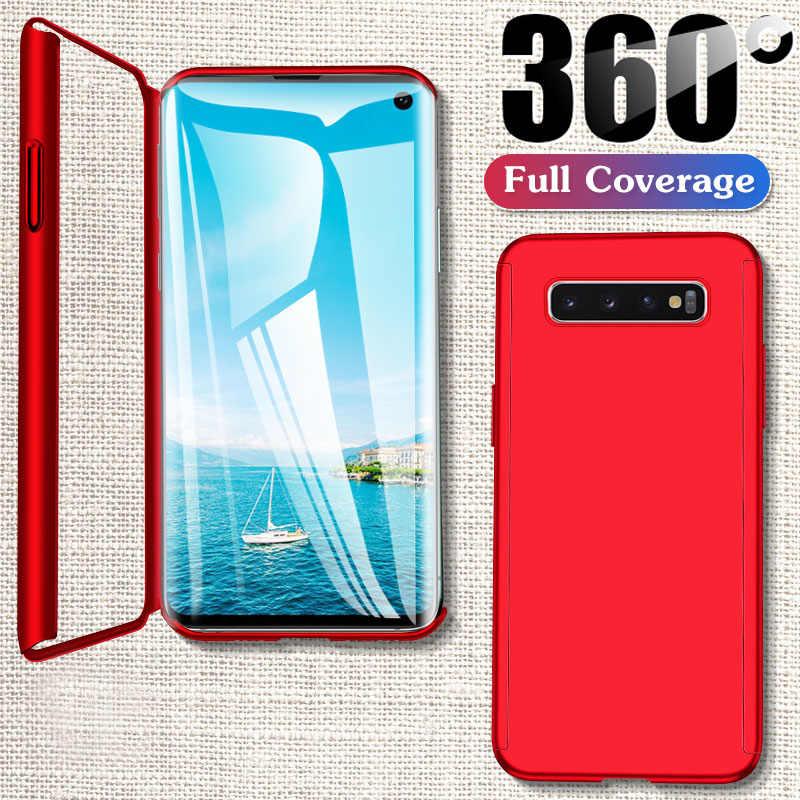 Luxury 360 เต็มรูปแบบสำหรับ Samsung Galaxy A50 A10 S8 S9 PLUS S10 หมายเหตุ 8 9 10 PLUS s6 S7 ขอบแก้วหรือฟิล์ม