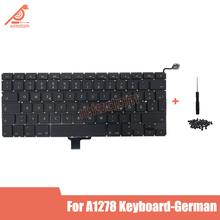 Full New A1278 German Laptop keyboard For Macbook Pro 13 A1278 German keyboard 2009 2010 2011 2012 year new for macbook pro 13 a1278 topcase palm rest keyboard backlit us uk euro eu german french danish russian spanish 2011 2012