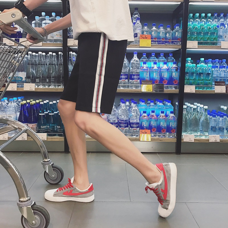 Men's Korean-style Trend Summer BOY'S Bermuda Shorts Teenager Students Boy Loose Women's Sports Shorts