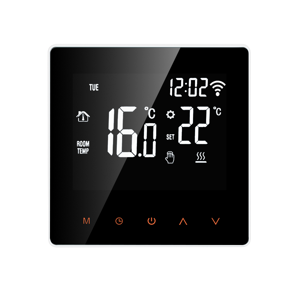 Wi-Fi Smart Thermostat Digital Temperature Controller For Water/Electric Floor Heating APP Control LCD DisplayTouch Screen