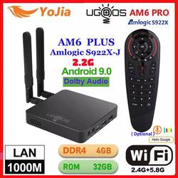 UGOOS AM6 Plus TV caja Android 9,0 Amlogic S922X AM6 Pro 4K reproductor de medios DDR4 4GB RAM 32GB ROM 2,4/5G WiFi 1000M LAN BT 2G16G OTA