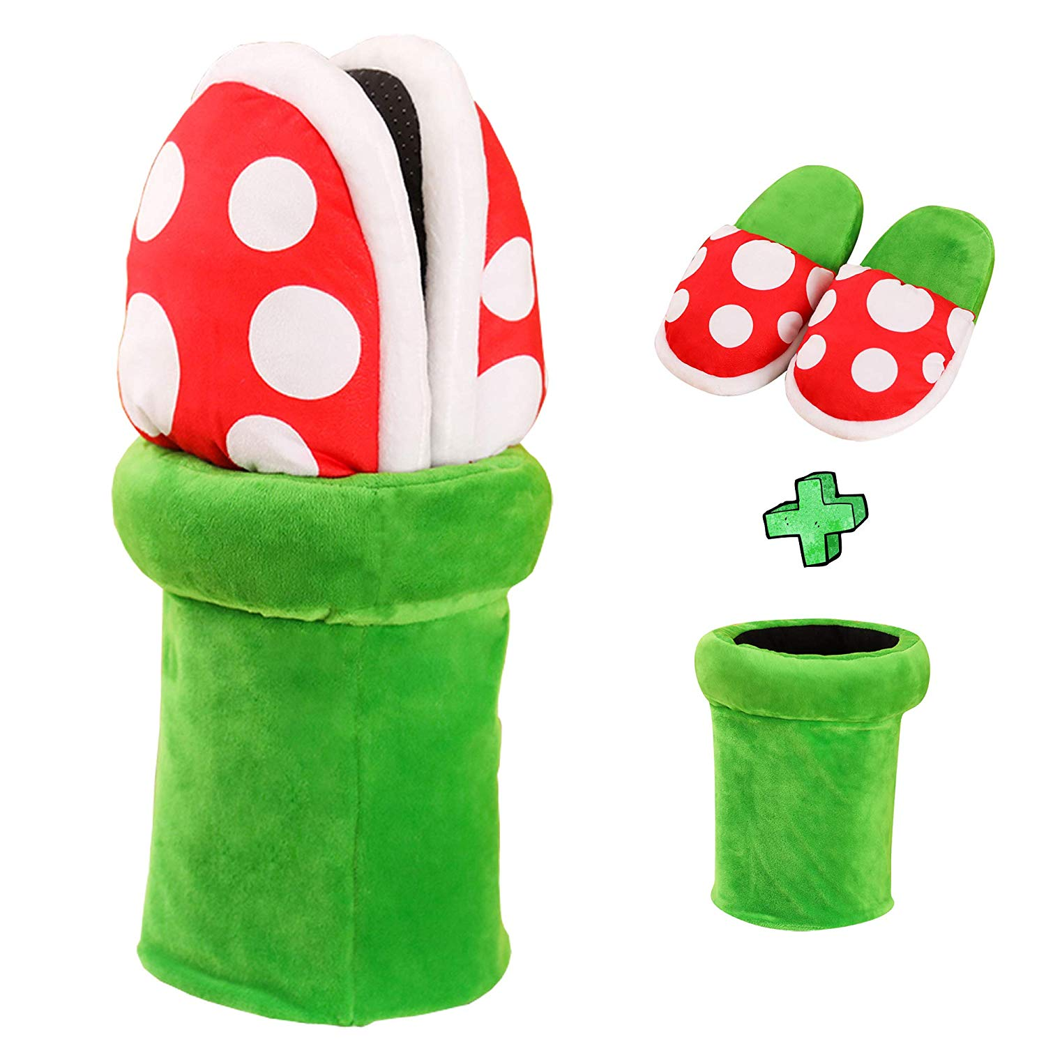 Super Mario Bros Slippers Piranha Decoration Flower Cosplay Shoes Autumn&Winter Plush Slipper Women Man Shoes Gift Wholesale