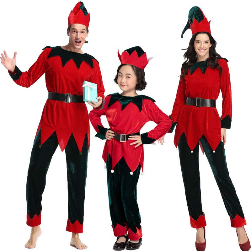 Christmas Elf Costume Children/'s Clothing Adult Men and Women Christmas Costumes