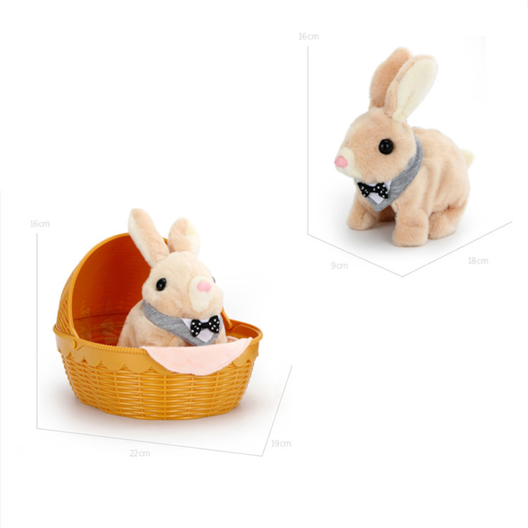 Nora Chong Bao 9331 Rabbit Plush Toys Model Electric Bunny Cute GIRL'S Play House Gift