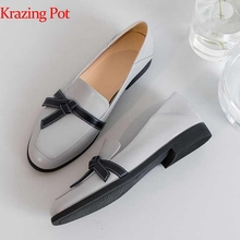 Pumps Krazing Pot Low-Heels Round-Toe Butterfly-Knot European L57 Daily-Wear Maiden Classic