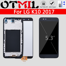 цена на 5.3 AMOLED LCD For LG K10 2017 LCD Display Touch Screen with Frame For LG K10 LCD K410 K430 K430DS K420N 420N K10 Lte Display