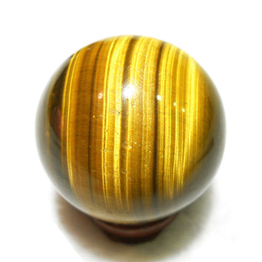 Round Sphere Yellow Gift Crystal 2cm Handmade Natural Healing Ball Mini Rare Toy Tiger Eye Pendants