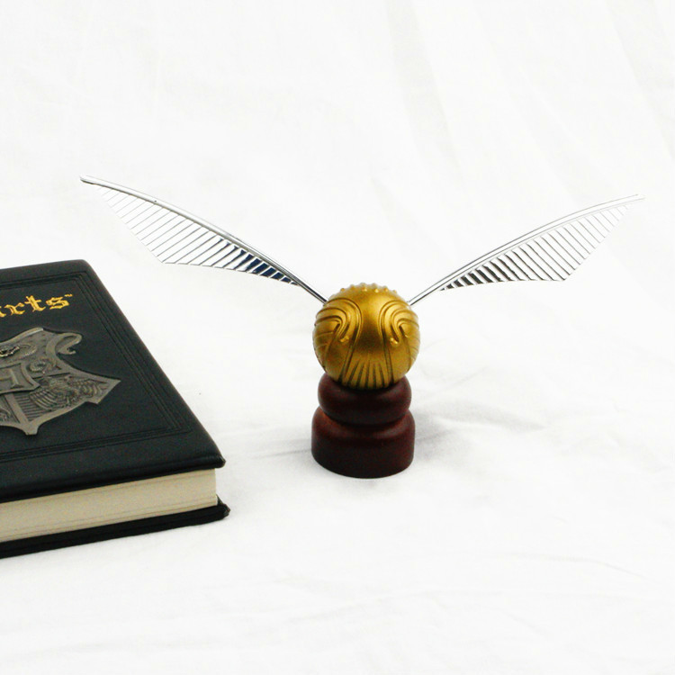 Potter Color Gold Ball Stand Snitch Hogwart Harried Quaffle Bludger Party Wizard Collection For Birthday Party Cake Decoration