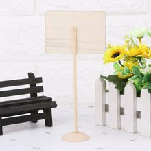 5Pcs Rectangle Mini Wooden Chalkboard Blackboard Message Table Number Wedding Party Decor Place Card Holder