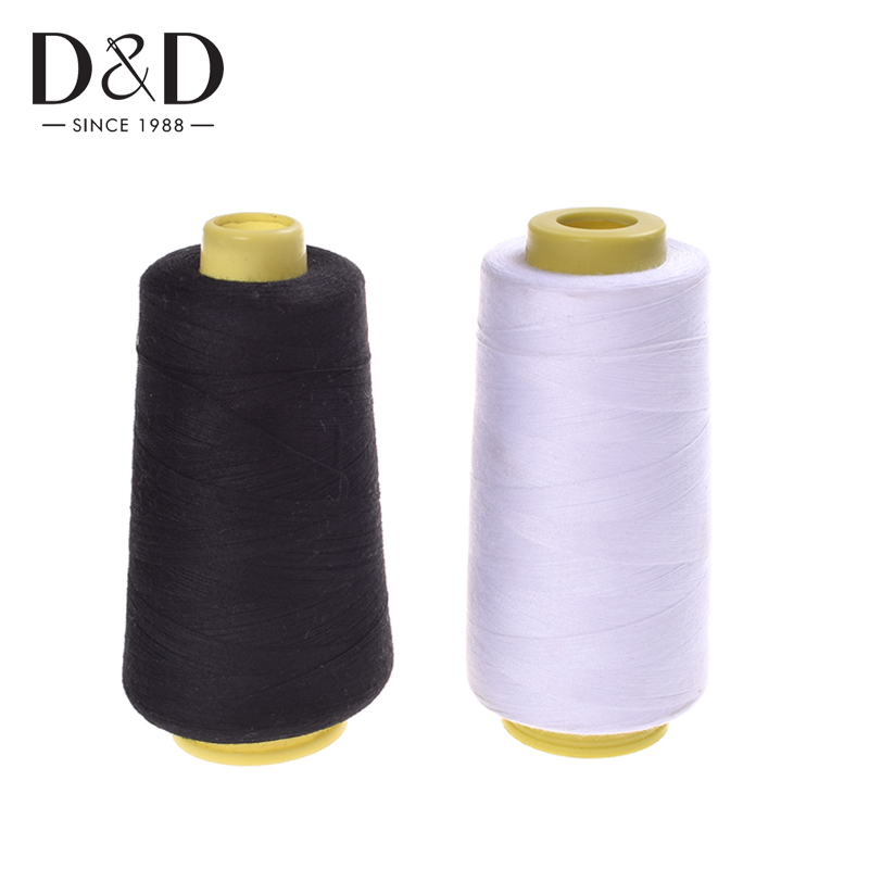 6 Black Cotton Polyester Sewing Machine Thread Craft Embroidery DIY