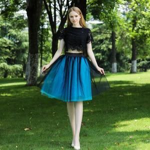 Image 3 - 5 שכבות 60cm Midi טול חצאית נסיכת נשים למבוגרים טוטו אופנה בגדי Faldas Saia Femininas נהיגה לראשונה חצאית קיץ סגנון