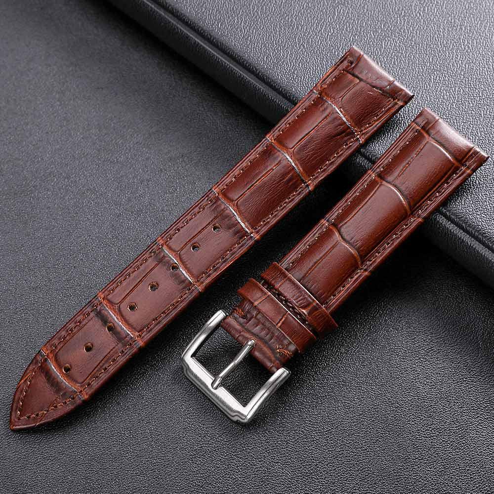 Watchband Accessories Genuine Leather Watch Straps 12mm 18mm 20mm 16mm 22mm 24mm  Watch Wrist Bracelet Band Belt Dropshipping