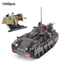 Army Series Tank Track Armoured Cehicle vehicle compatible LegoINGlys Military Tank Building Blocks Bricks Toy For Children Gift(China)