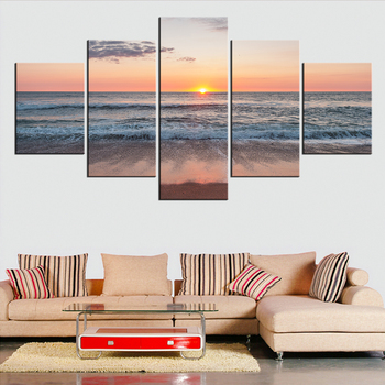 5 Pieces set Modern Canvas sunset colors Painting Wall Art The Picture For Home Decoration print Giclee Artwork For Wall Decor