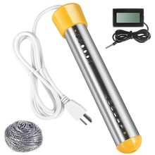 Water-Heater Digital-Thermometer Immersion Stainless-Steel 1500W And with Us-Plug Shield