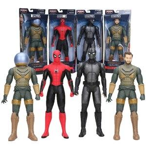 12 cal legendy serii Marvel zabawki Spider-Man daleko od domu MYSTERIO czarny SPIDERMAN pcv kolekcja figurek lalki
