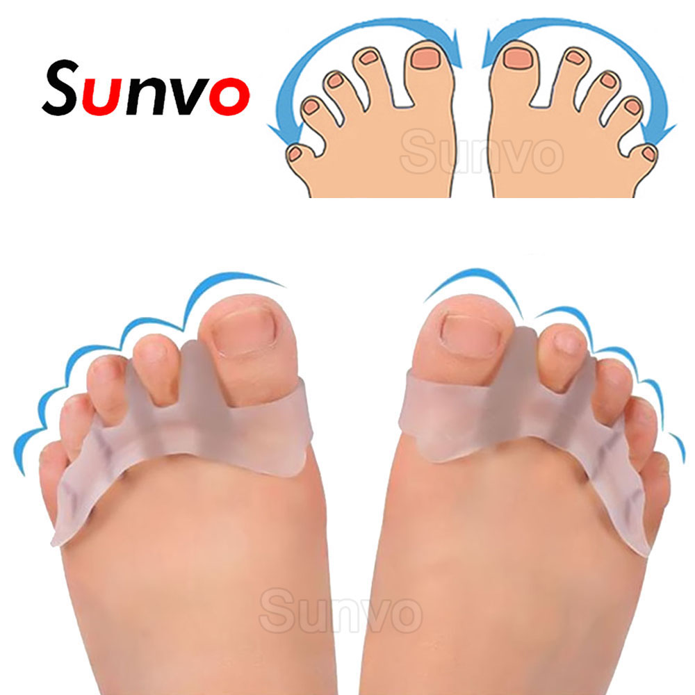 Sunvo Hallux Valgus Orthotics Bunion Splint For Separate All Toe Big Bone Orthopedic Foot Hammer Corrector Separator Inserts Pad