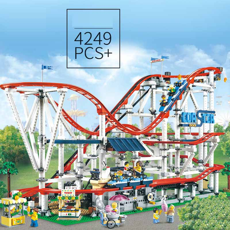 Technic brick parts legoinglys 15039 Roller Coaster Set Building Blocks  creator expert Educational Toys Birthday christmas Gift