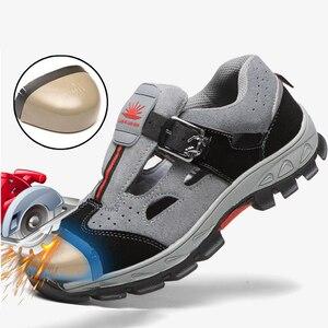 Мужские туфли со стальным носком, дышащие повседневные кроссовки для работы, промышленные ботинки с защитой от проколов, Прямая поставка