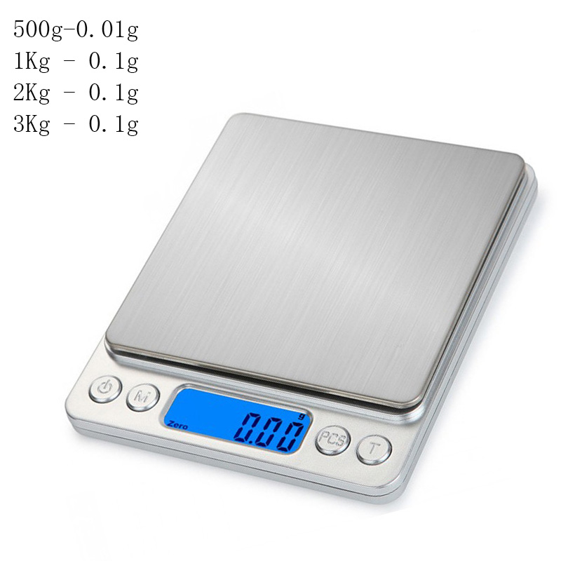 3kg 0.01/0.1g LED Digital Weighing Scale Mini Precision Grams Weight Electronic Balance Scale for Tea Baking Medicinal Herbs