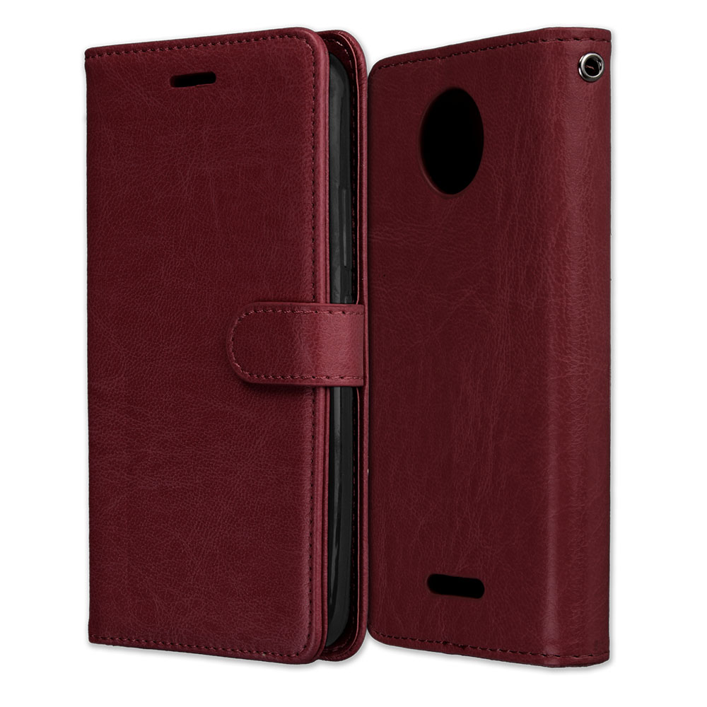 Wallet Book Cases Card Slot Leather Covers For Moto C E2 E3 E4 Plus E5 G3 G4 G5 G5S G6 Play M X4 X3 X Style Frame Fundas P08G