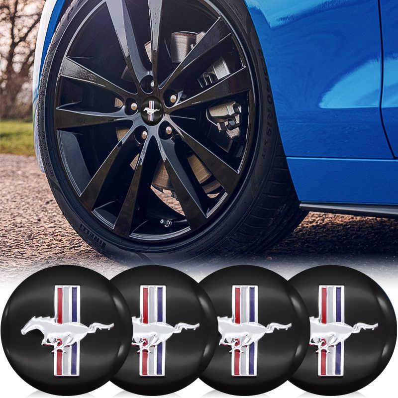 Car Wheel Center Label Hub Caps Emblem Sticker For Ford Mustang Shelby Cobra