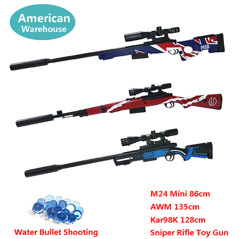 Toy Gun Sniper Rifle Kar98K AWM M24 Mini Airsoft Air Guns Safety Sight Water Bullet Shooting Boys Outdoor Toys Arms Weapon Gift-in Toy Guns from Toys & Hobbies